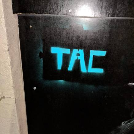 Used TAC Grafitti Stencil 2018 (EDITION OF 1)